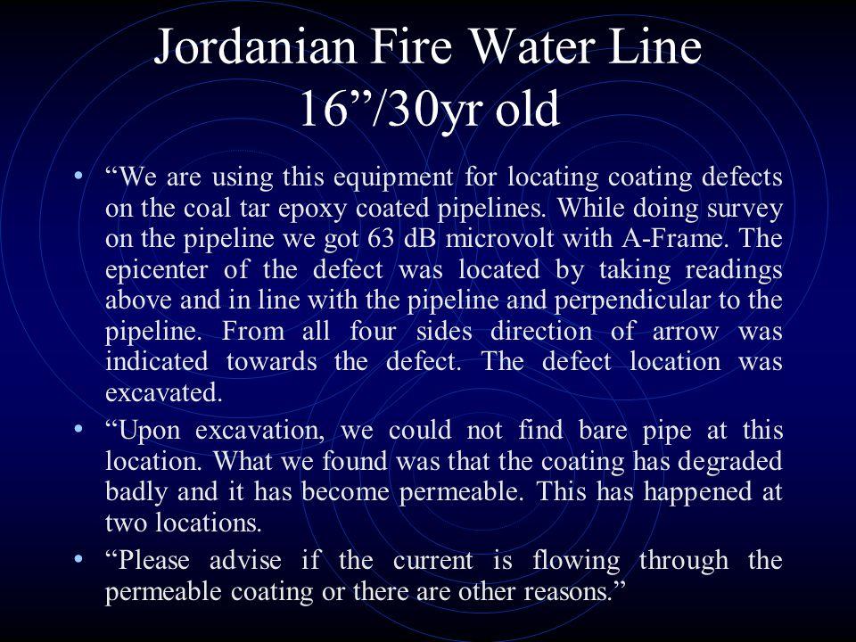 Jordanian Fire Water Line 16 /30yr old