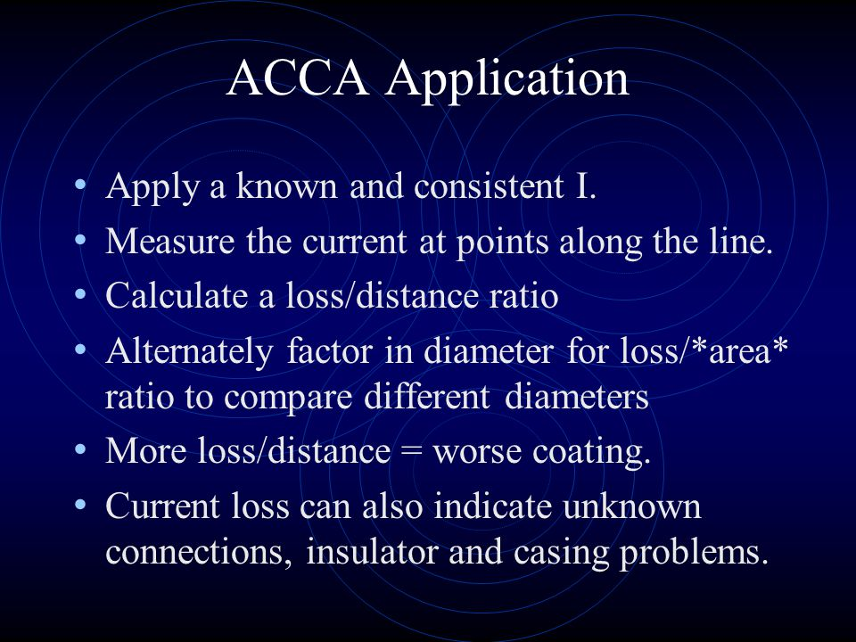 ACCA Application Apply a known and consistent I.