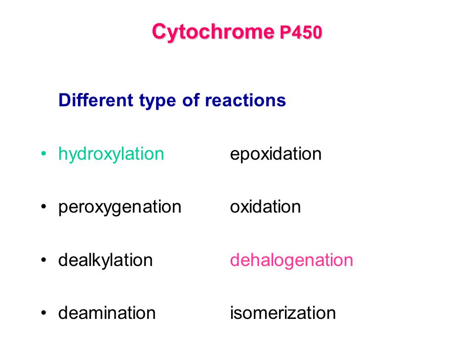 Cytochrome P450 hydroxylation epoxidation peroxygenation oxidation