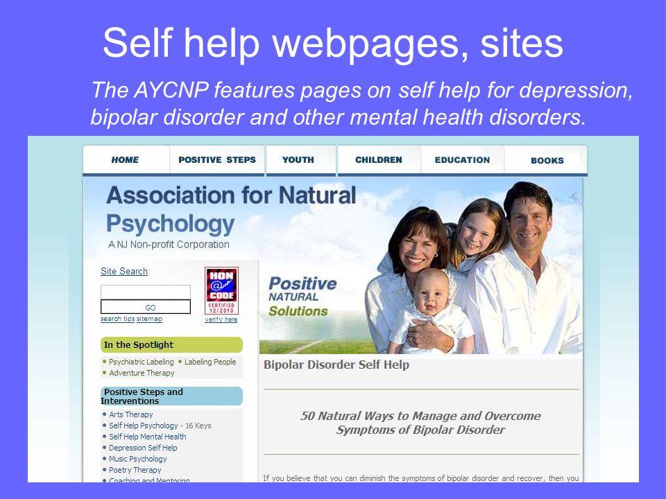 Self help webpages, sites