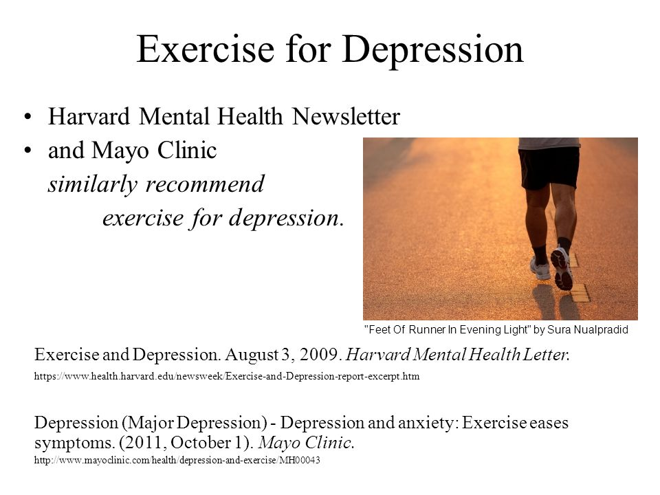 Exercise for Depression