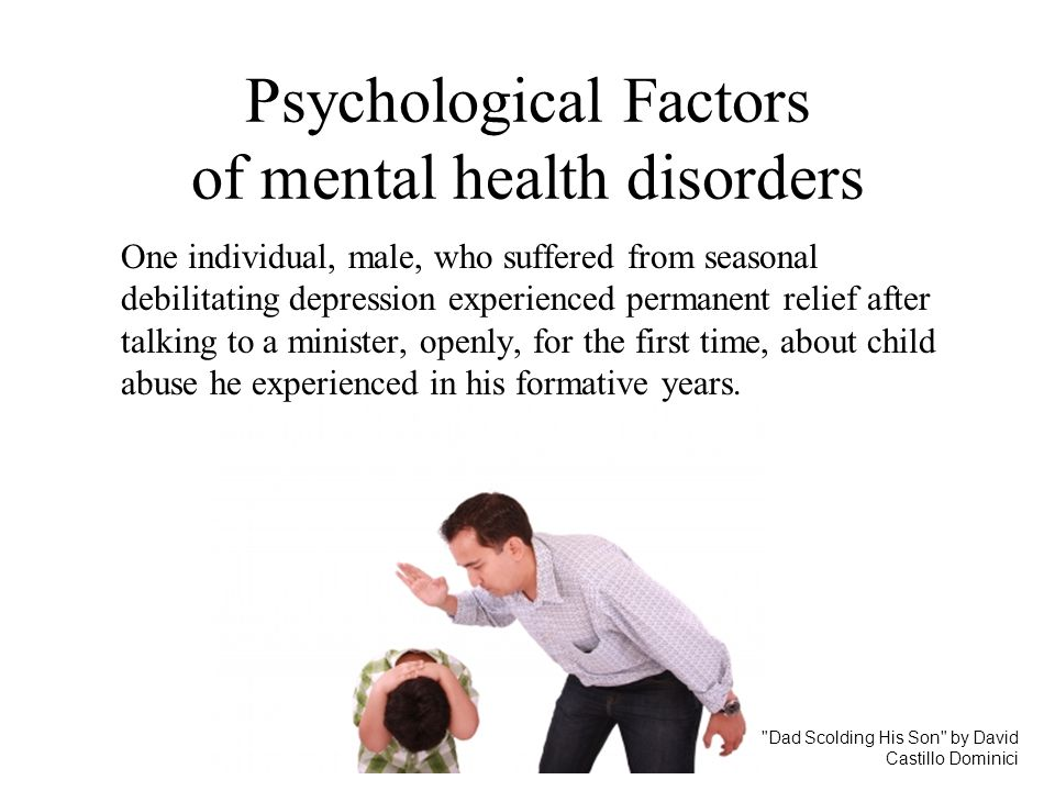 Psychological Factors of mental health disorders