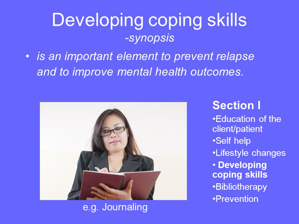 Developing coping skills -synopsis