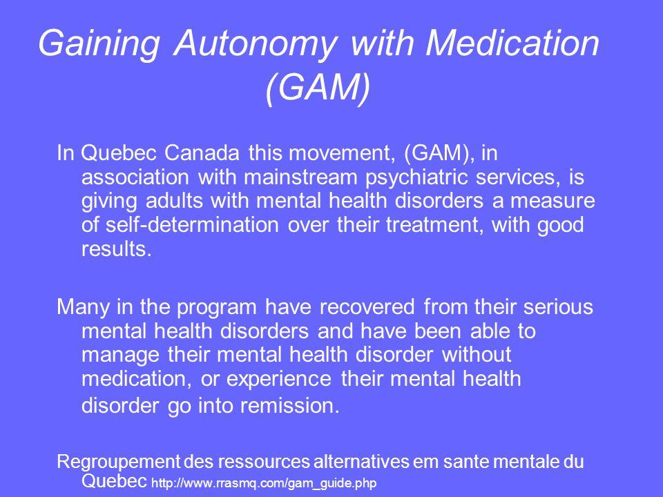 Gaining Autonomy with Medication (GAM)