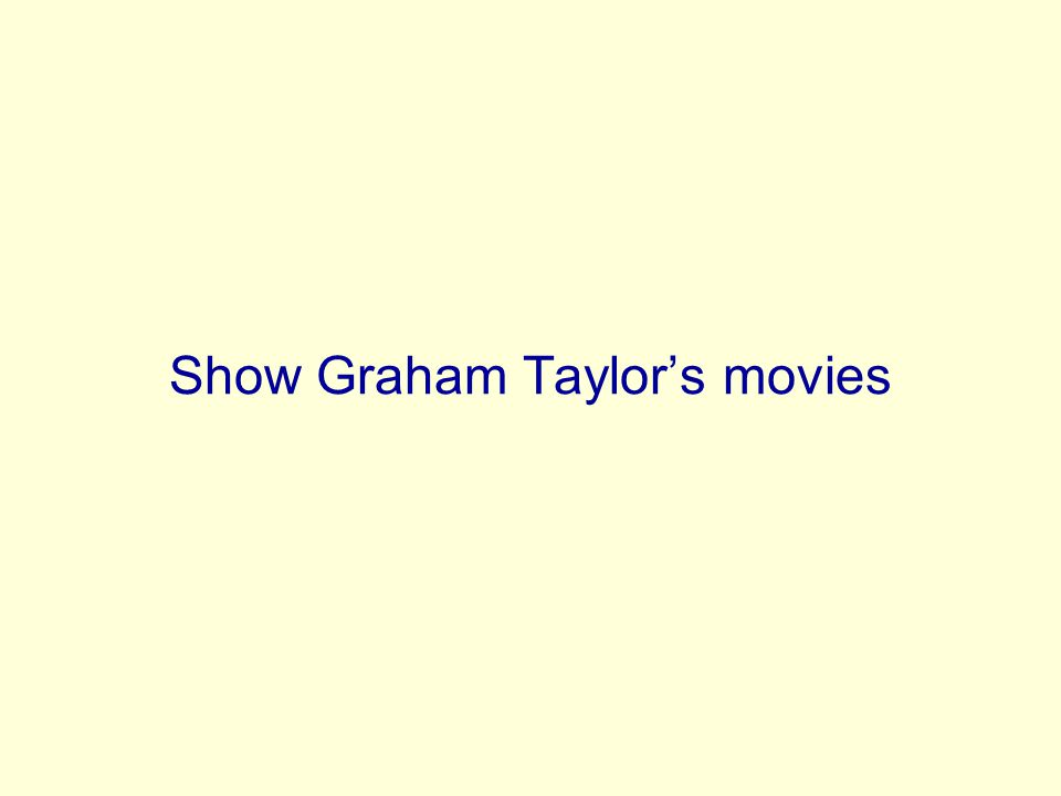 Show Graham Taylor's movies