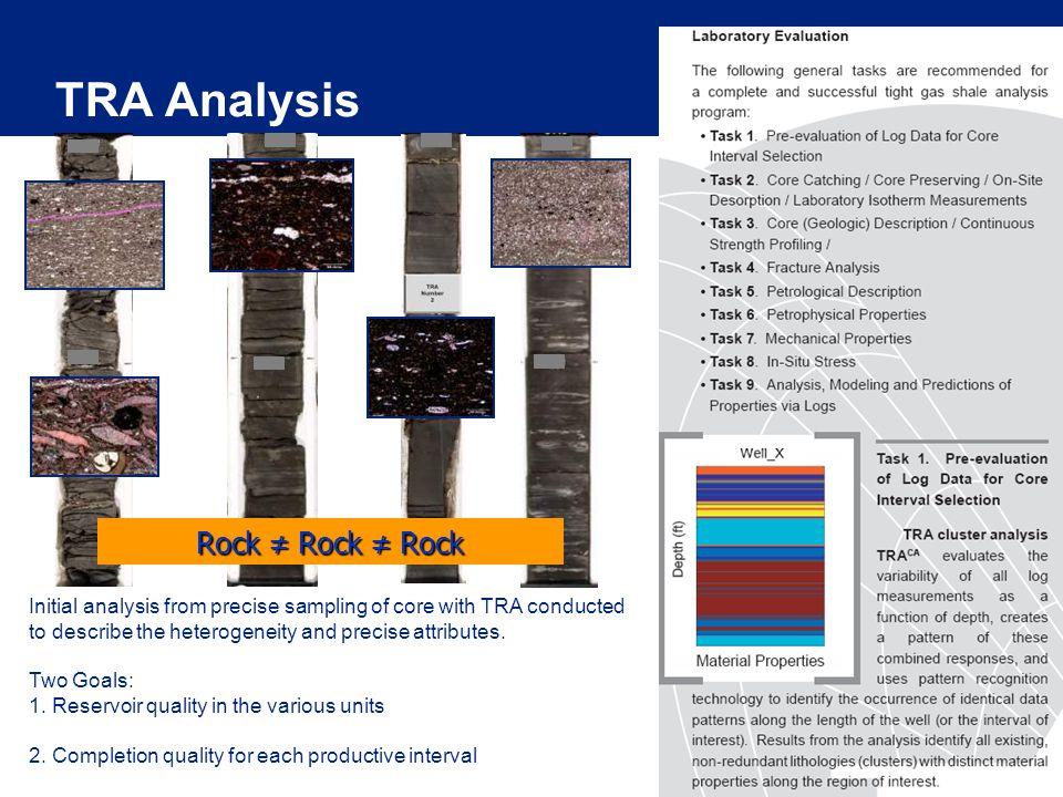 TRA Analysis Rock ≠ Rock ≠ Rock