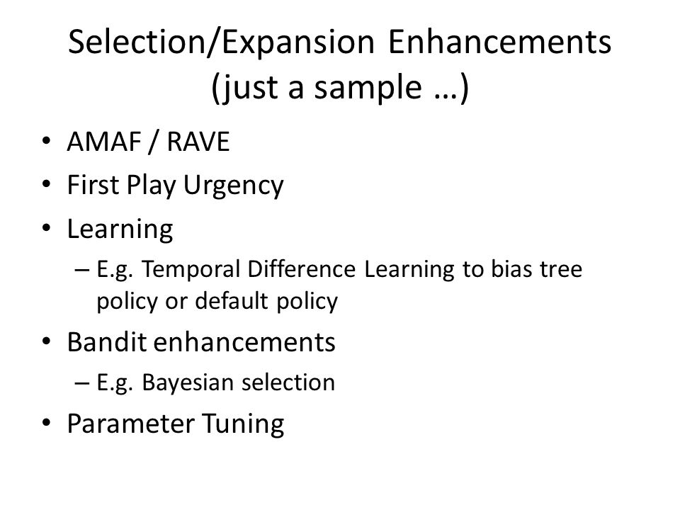 Selection/Expansion Enhancements (just a sample …)