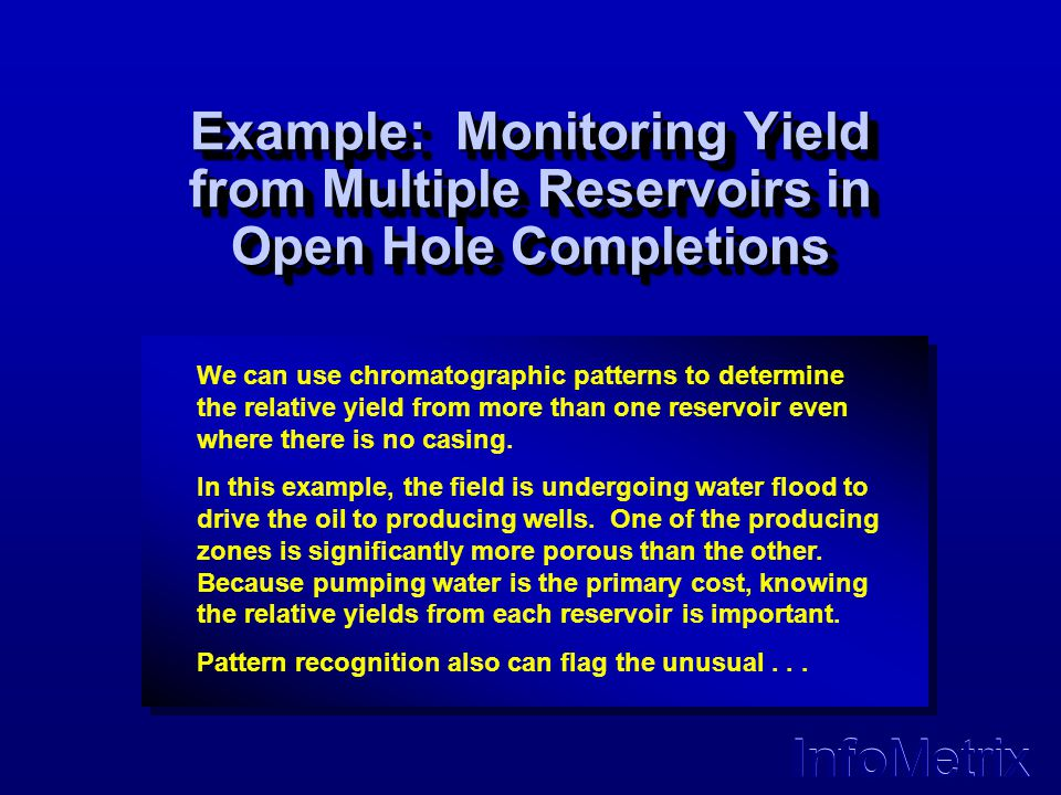 Example: Monitoring Yield from Multiple Reservoirs in Open Hole Completions