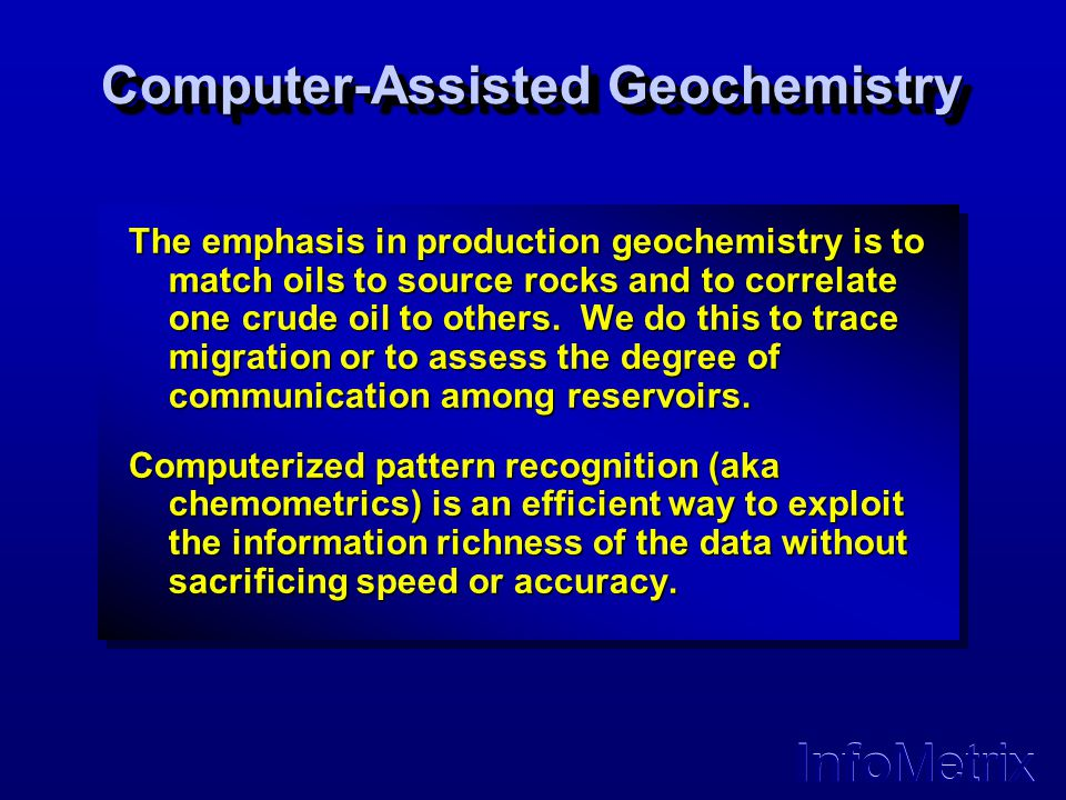 Computer-Assisted Geochemistry