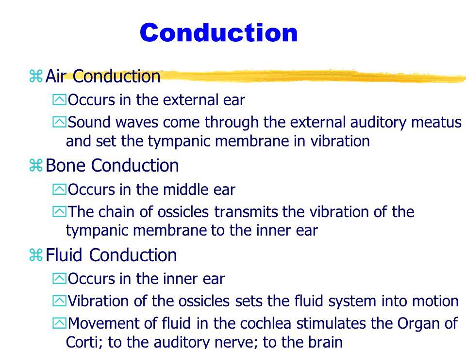 Conduction Air Conduction Bone Conduction Fluid Conduction