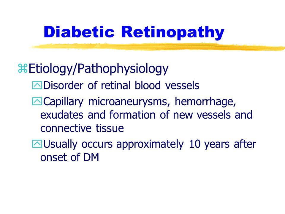 Diabetic Retinopathy Etiology/Pathophysiology