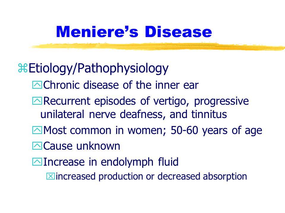 Meniere's Disease Etiology/Pathophysiology