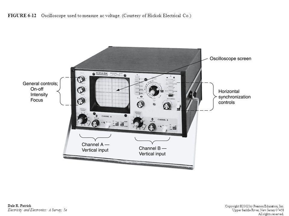 FIGURE 6-12 Oscilloscope used to measure ac voltage