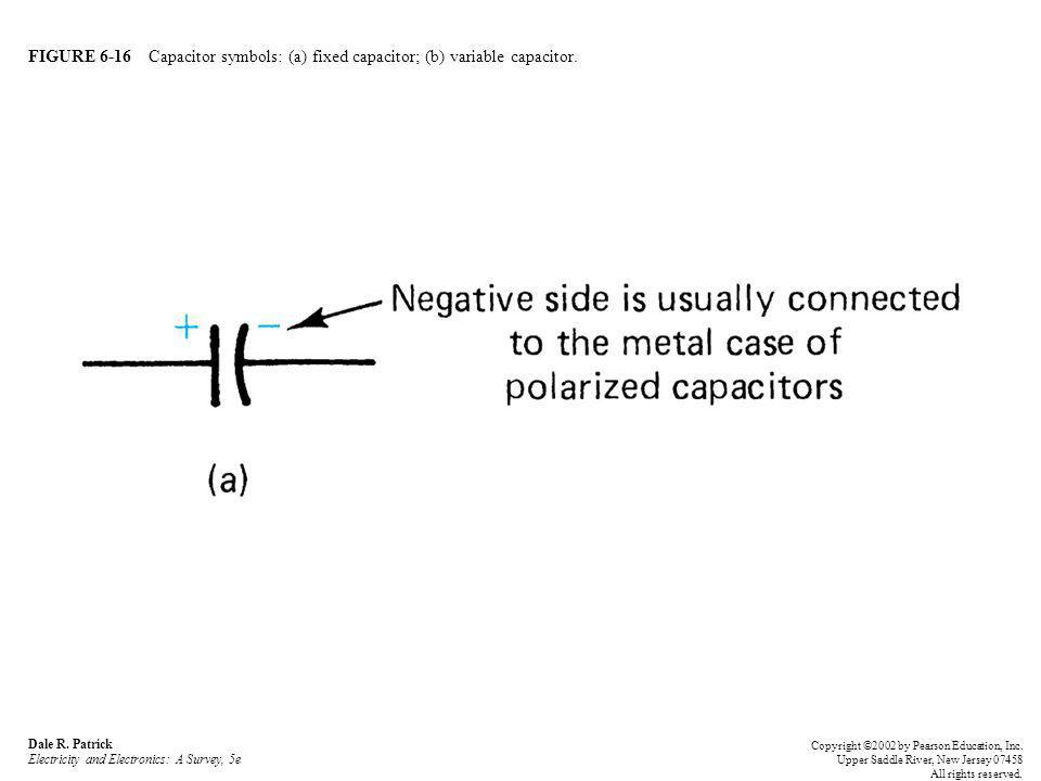 FIGURE 6-16 Capacitor symbols: (a) fixed capacitor; (b) variable capacitor.