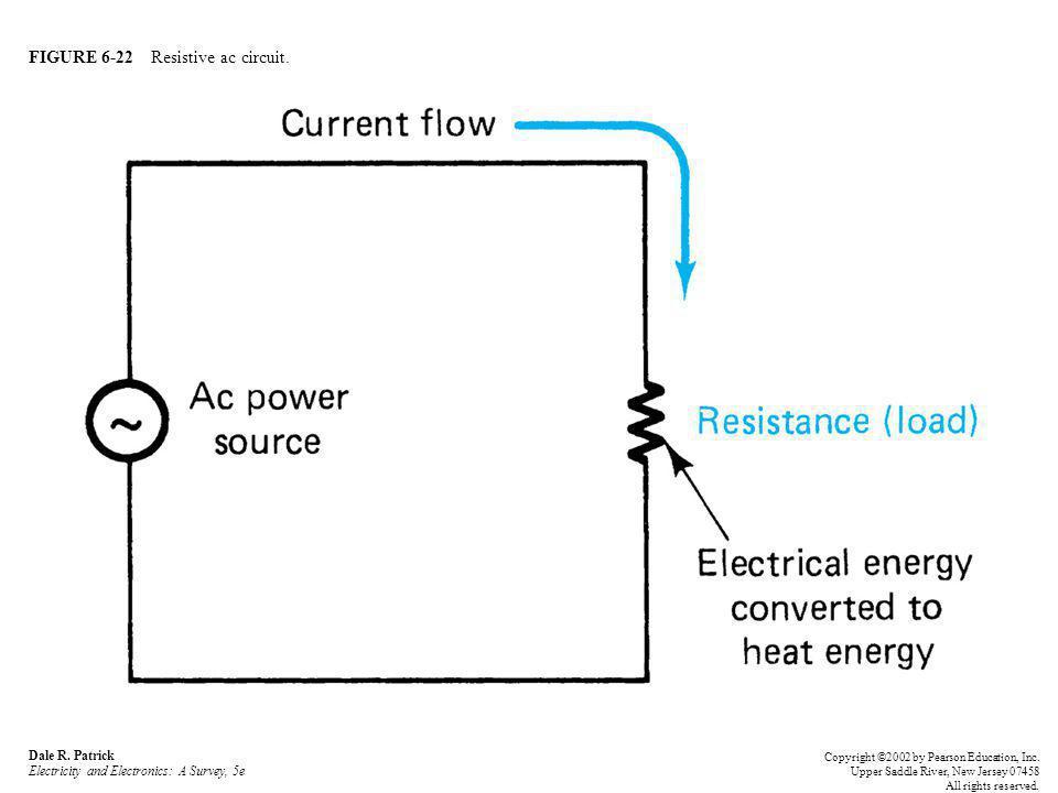 FIGURE 6-22 Resistive ac circuit.