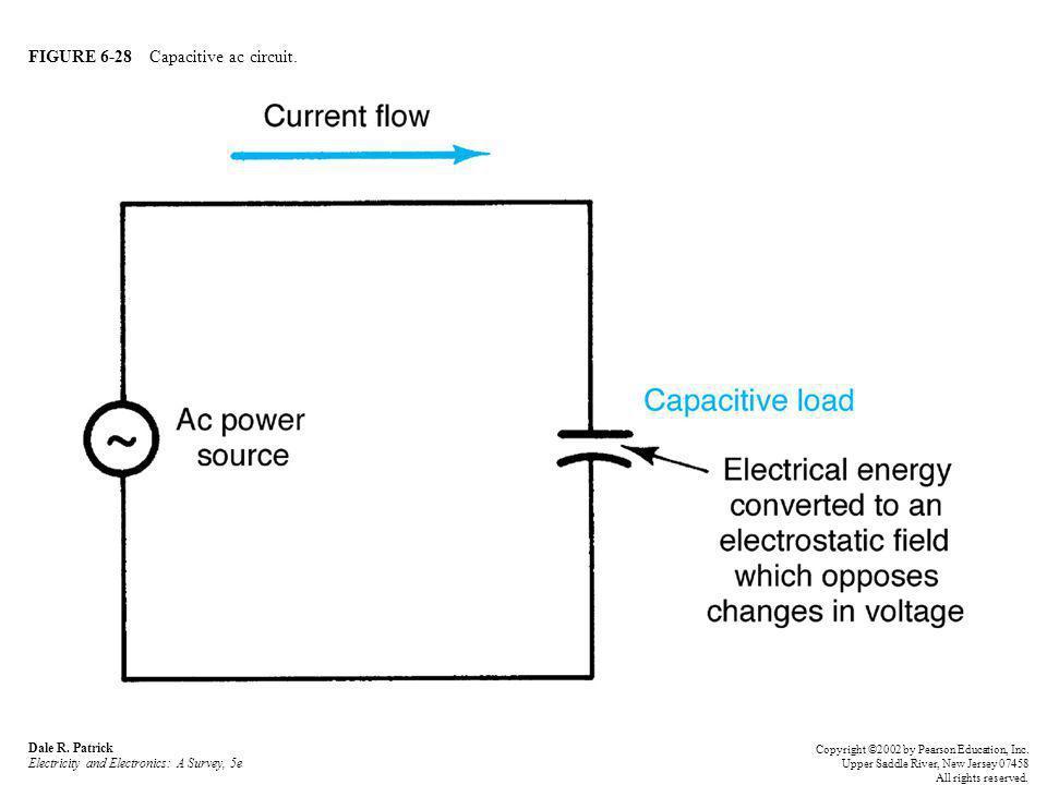 FIGURE 6-28 Capacitive ac circuit.