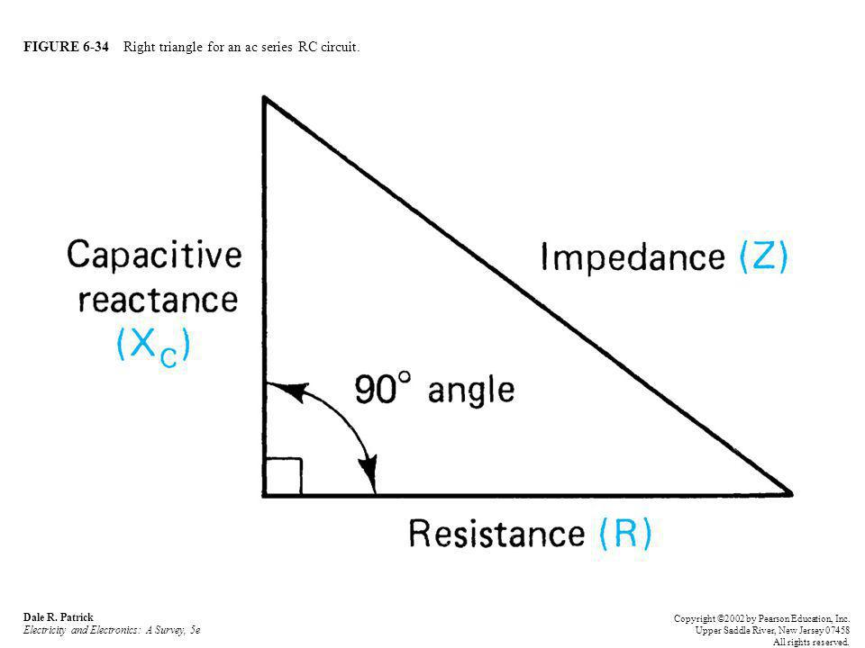 FIGURE 6-34 Right triangle for an ac series RC circuit.