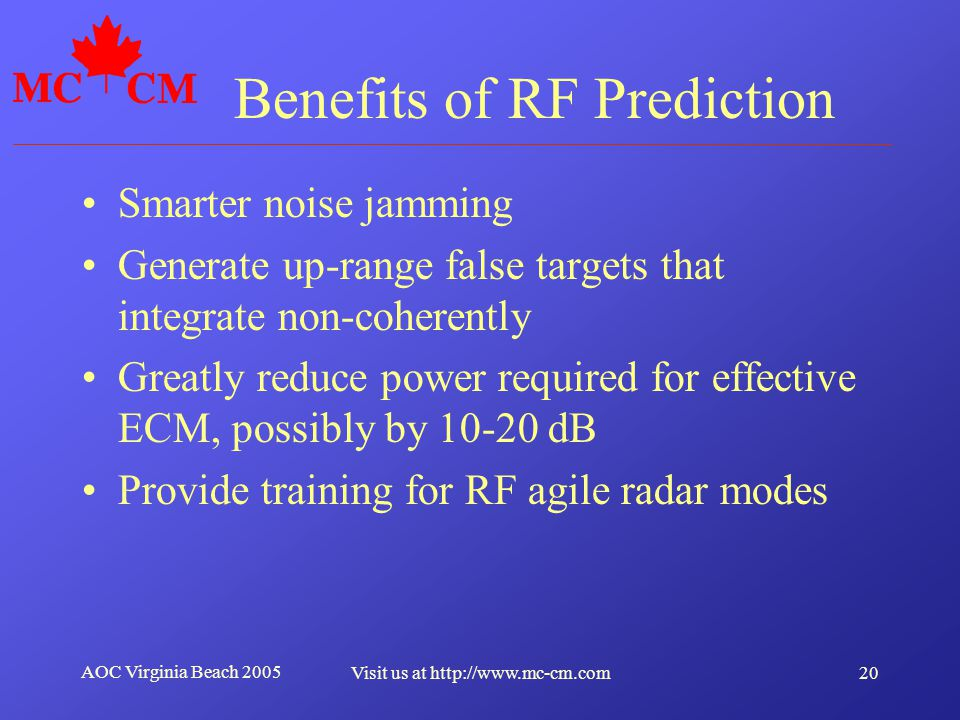 Benefits of RF Prediction