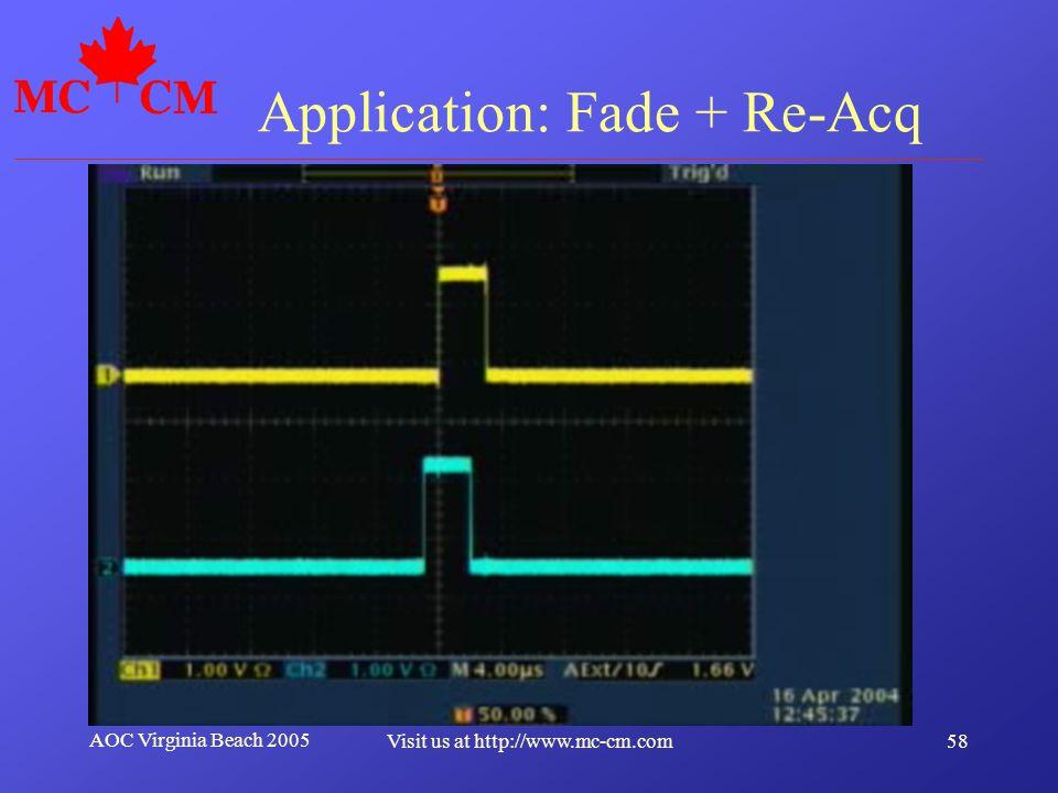 Application: Fade + Re-Acq