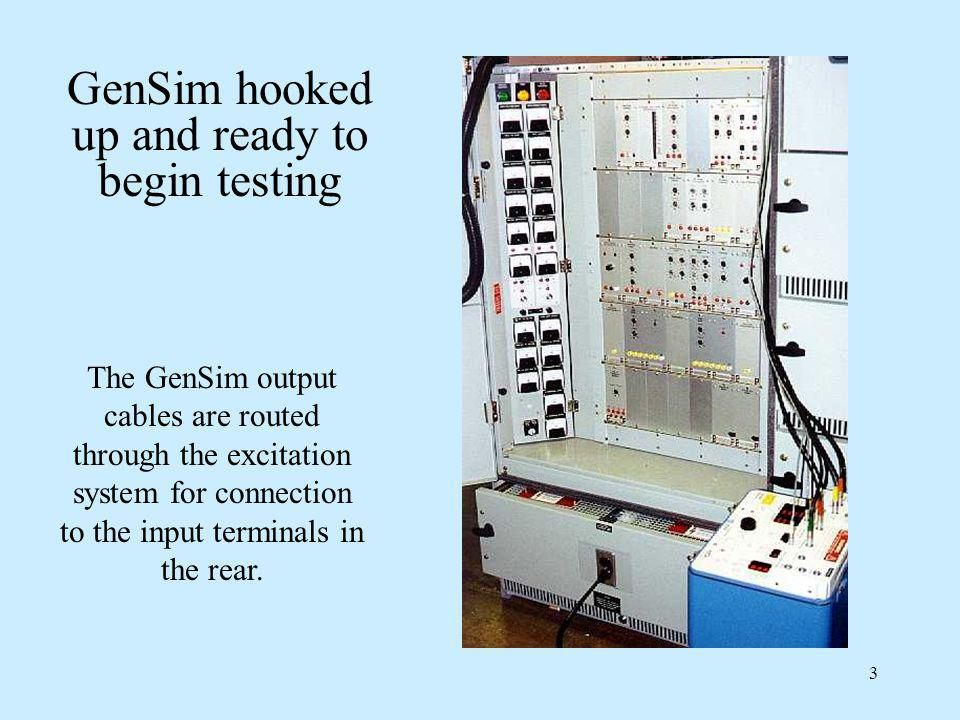 GenSim hooked up and ready to begin testing