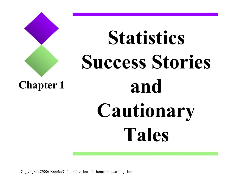 Statistics Success Stories and Cautionary Tales