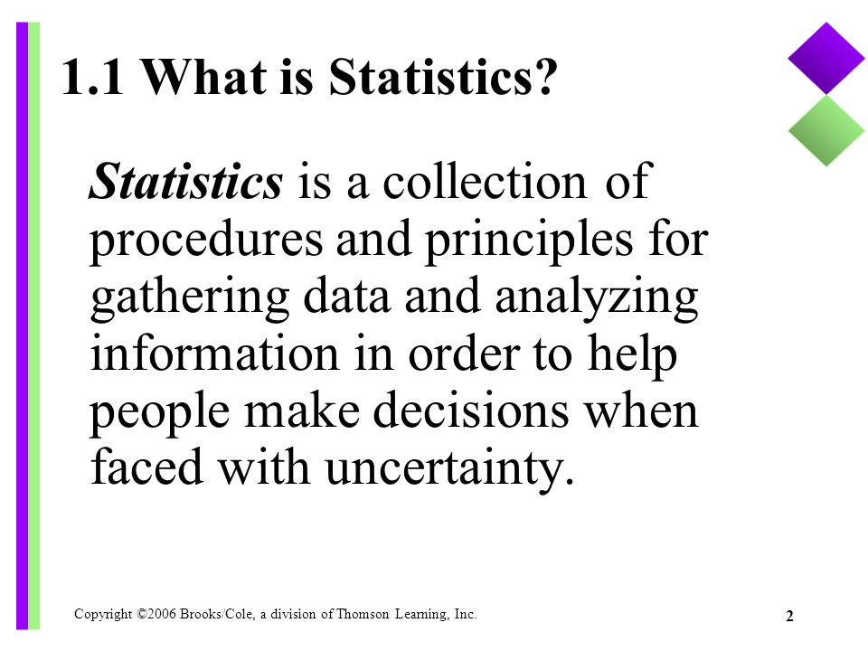 1.1 What is Statistics