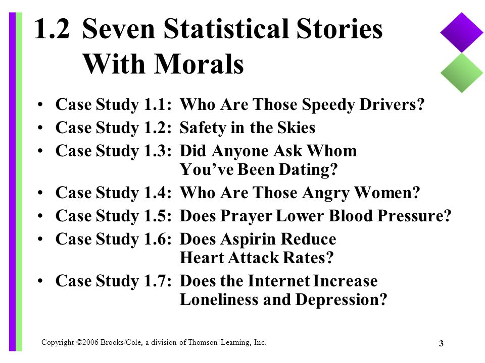 1.2 Seven Statistical Stories With Morals