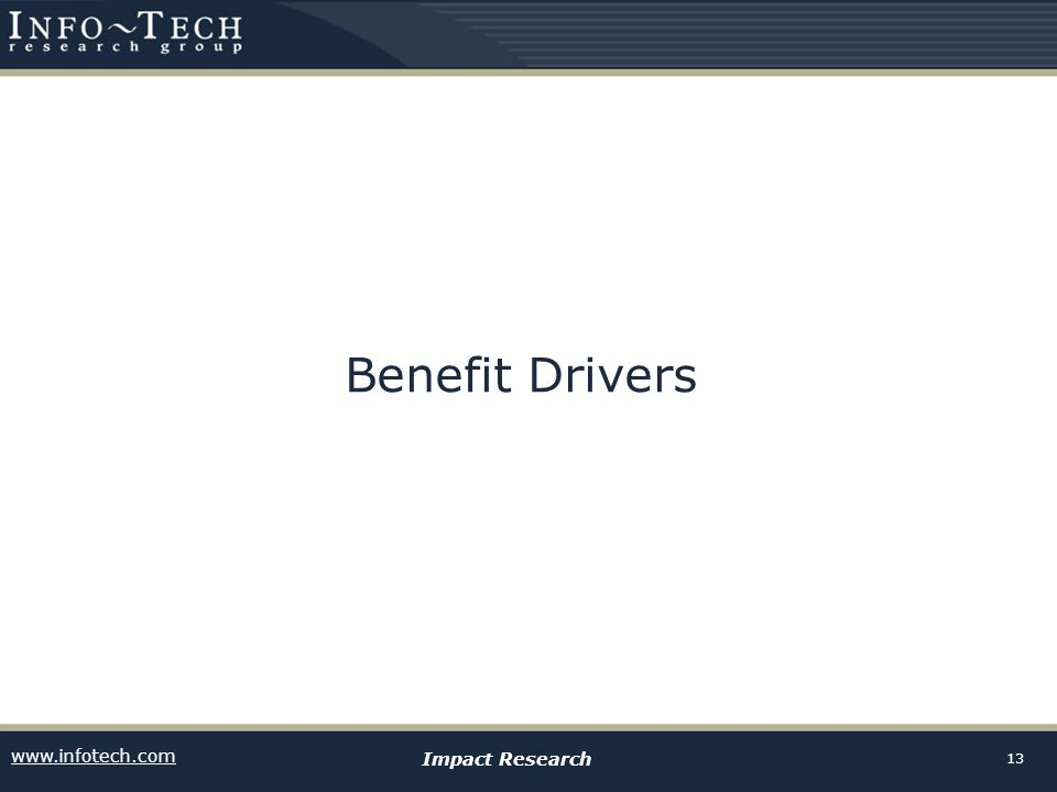 Benefit Drivers