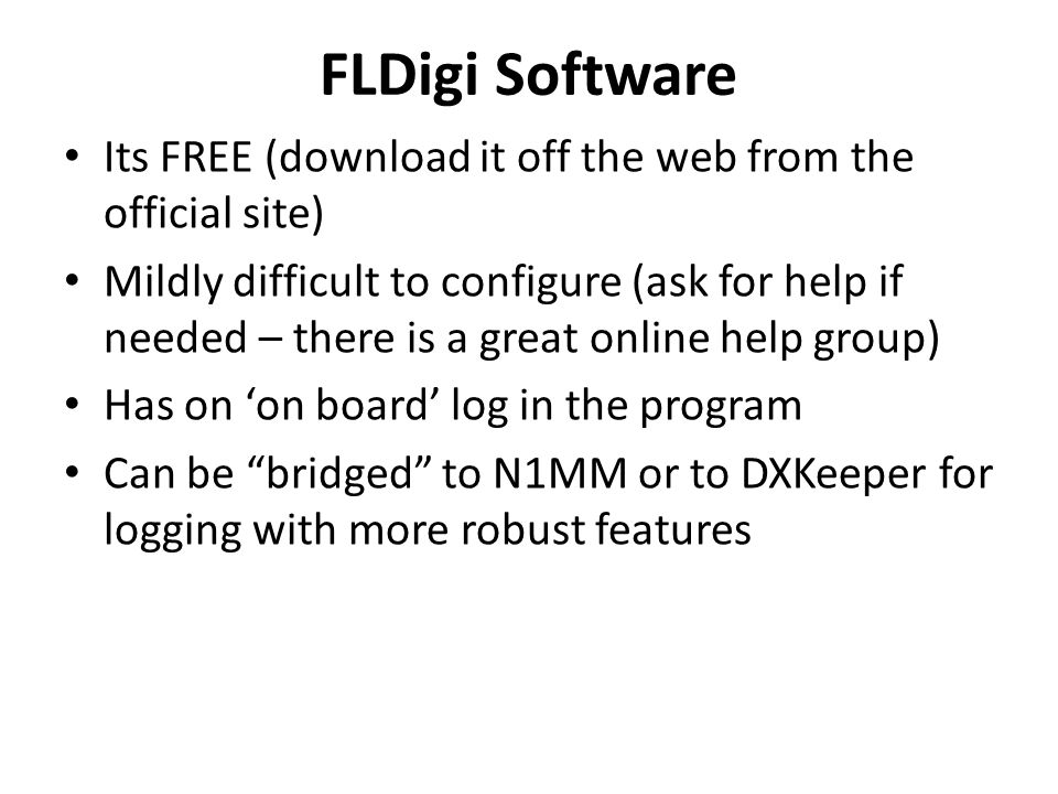 FLDigi Software Its FREE (download it off the web from the official site)