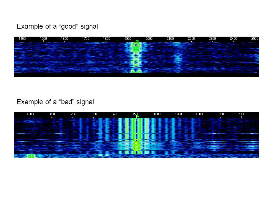 Example of a good signal