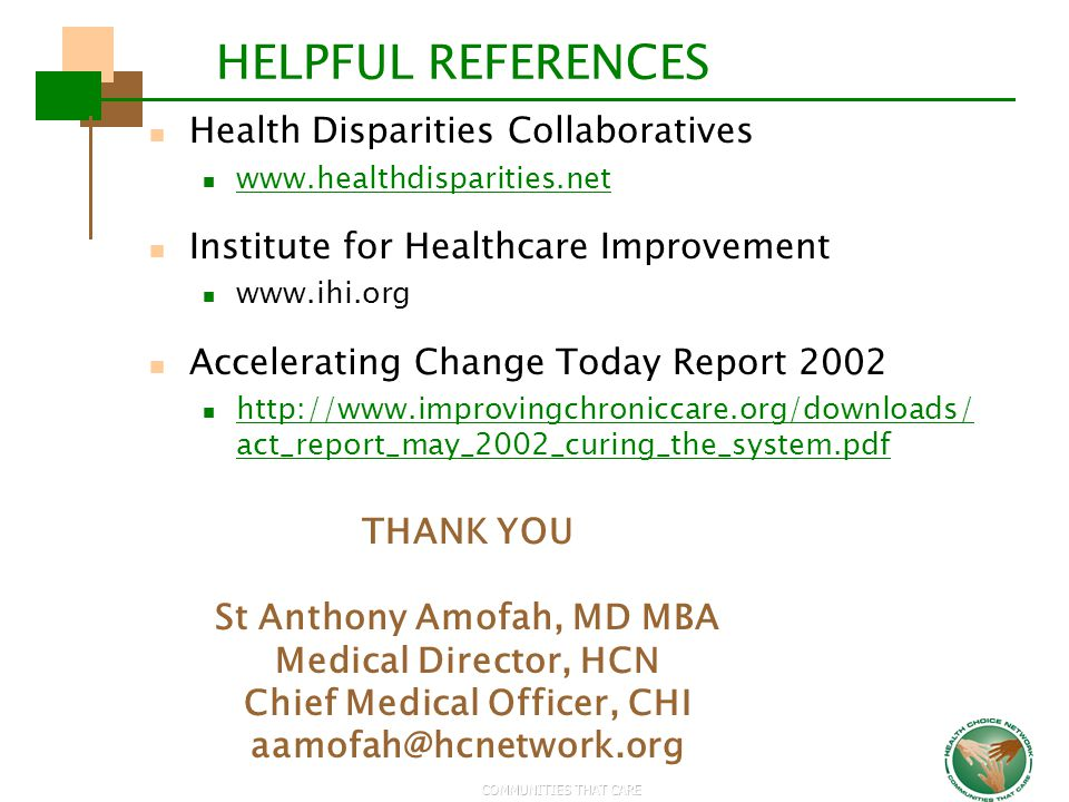 St Anthony Amofah, MD MBA Chief Medical Officer, CHI