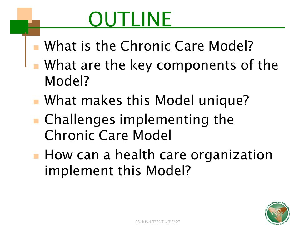 OUTLINE What is the Chronic Care Model