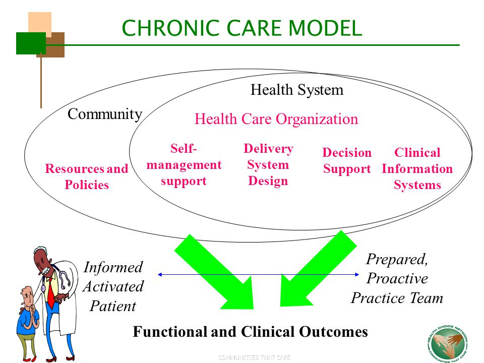 CHRONIC CARE MODEL Health System Health Care Organization Community