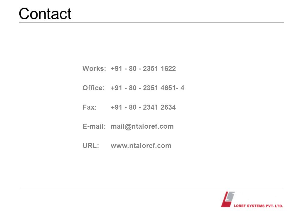 Contact Works: Office: