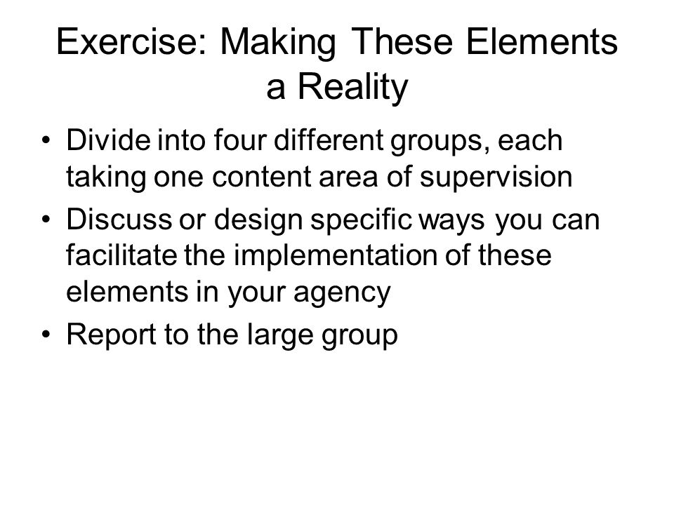 Exercise: Making These Elements a Reality