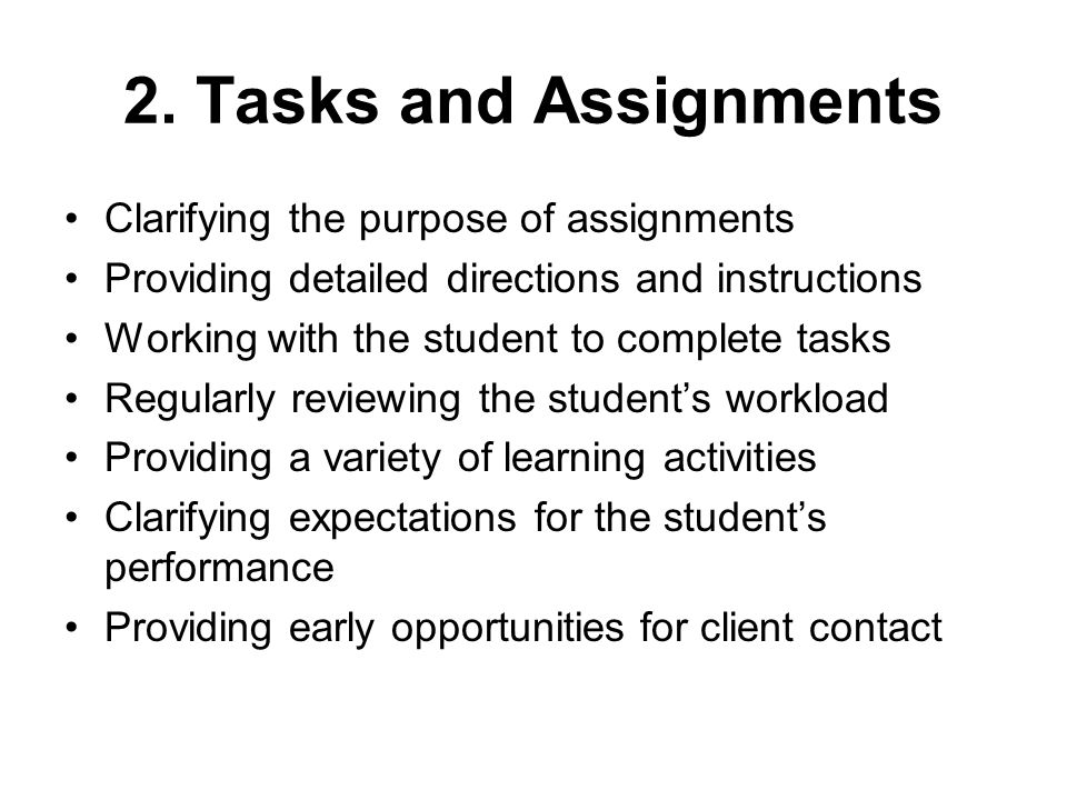 2. Tasks and Assignments Clarifying the purpose of assignments