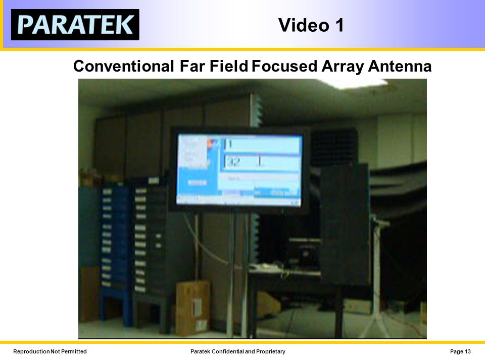 Conventional Far Field Focused Array Antenna