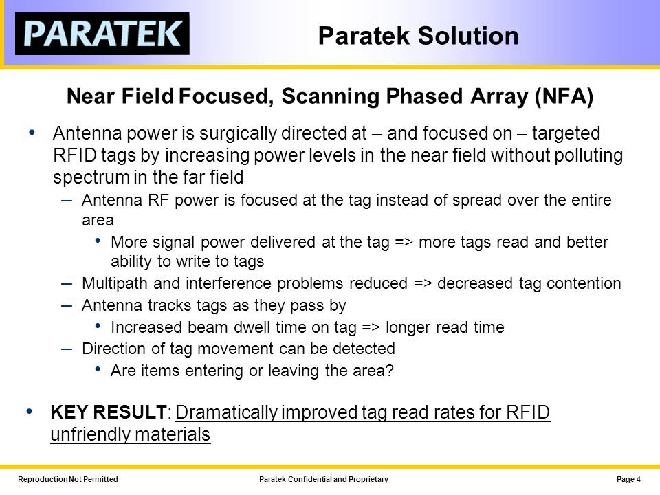 Near Field Focused, Scanning Phased Array (NFA)