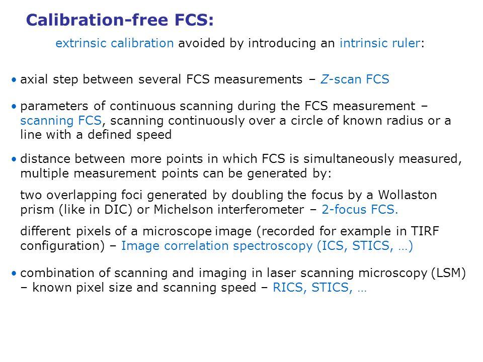 Calibration-free FCS: