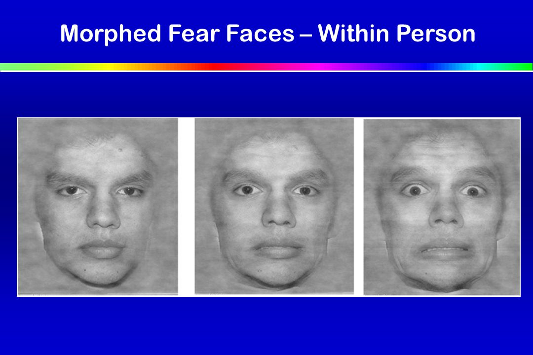 Morphed Fear Faces – Within Person