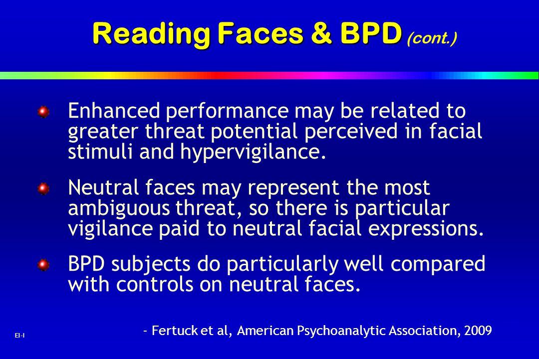 Reading Faces & BPD (cont.)