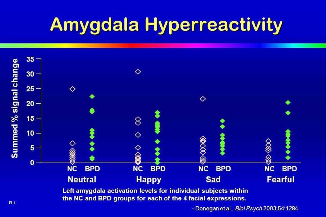 Amygdala Hyperreactivity
