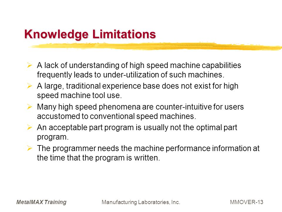Knowledge Limitations