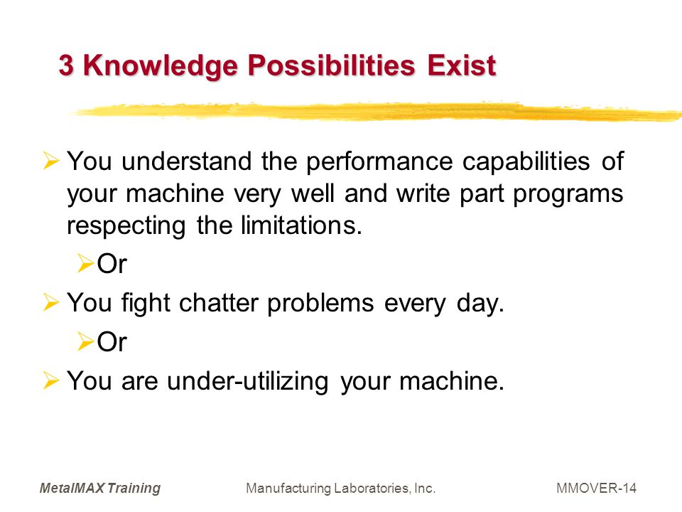 3 Knowledge Possibilities Exist
