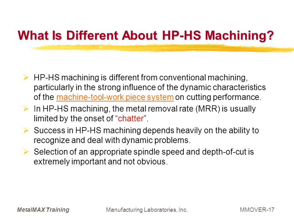 What Is Different About HP-HS Machining