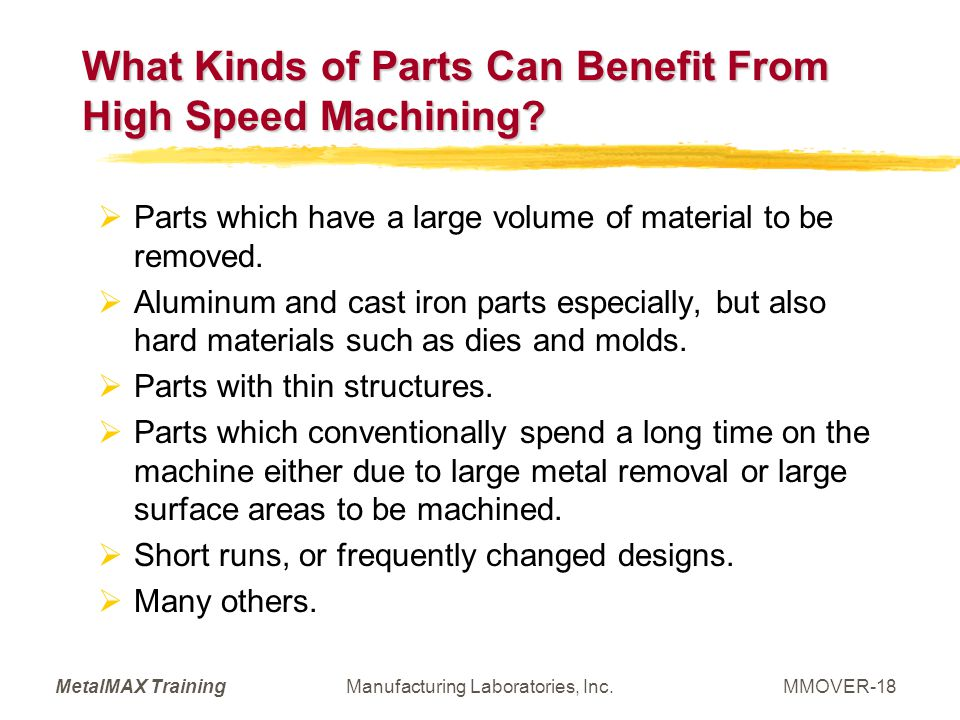 What Kinds of Parts Can Benefit From High Speed Machining
