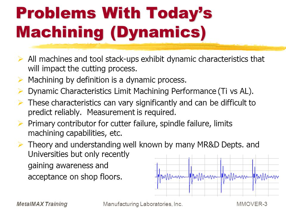 Problems With Today's Machining (Dynamics)