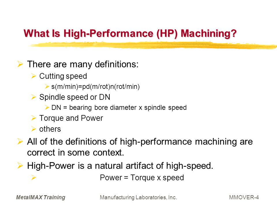 What Is High-Performance (HP) Machining