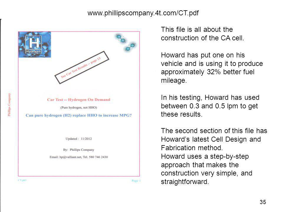 www.phillipscompany.4t.com/CT.pdf This file is all about the construction of the CA cell.