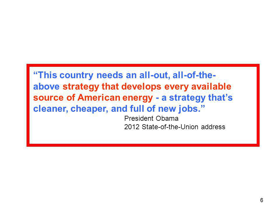 This country needs an all-out, all-of-the-above strategy that develops every available source of American energy - a strategy that's cleaner, cheaper, and full of new jobs.